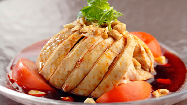 Cold steamed Chicken with Special Spicy Flavour